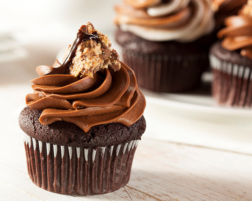 Moist Hazelnut and Chocolate Cupcakes Recipe