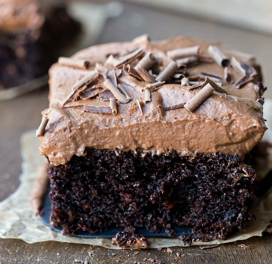 Moist Chocolate Mousse Cake