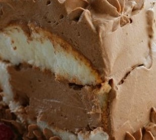 Effortless French Silk Angel Cake